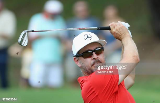 Mikko Korhonen of Finland in action during the final round of the Tshwane Open at Pretoria Country Club on March 4 2018 in Pretoria South Africa