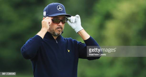 Mikko Korhonen of Finland looks on during day two of the BMW International Open at Golf Club Gut Larchenhof on June 22 2018 in Cologne Germany