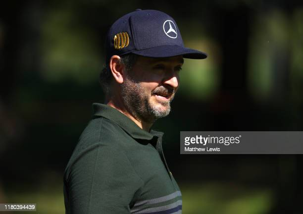 Mikko Korhonen of Finland on the 9th hole during Day two of the Italian Open at Olgiata Golf Club on October 11, 2019 in Rome, Italy.