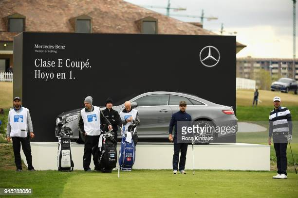 Mikko Korhonen of Finland plays a shot off the 17th tee during day one of Open de Espana at Centro Nacional de Golf on April 12 2018 in Madrid Spain