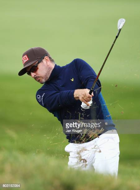 Mikko Korhonen of Finland plays from the rough on the 5th hole during day one of the HNA Open de France at Le Golf National on June 29 2017 in Paris...