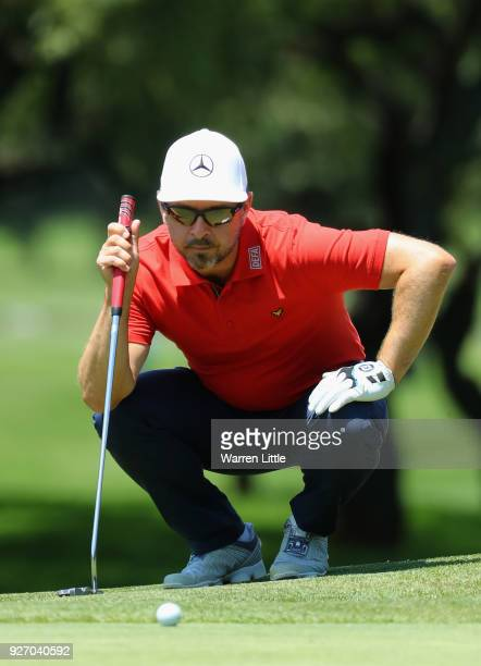 Mikko Korhonen of Finland putts on the first green during the final round of the Tshwane Open at Pretoria Country Club on March 4 2018 in Pretoria...
