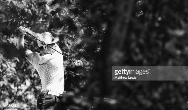 Mikko Korhonen of Finland tees off on the 15th hole during Day Three of The 2018 Shot Clock Masters at Diamond Country Club on June 9 2018 in...
