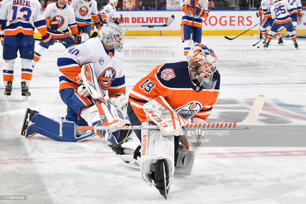 CAN: New York Islanders v Edmonton Oilers
