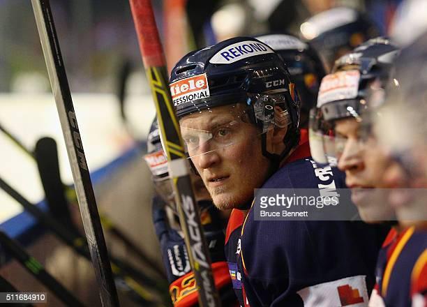 Mikko Lehtonen of Djurgarden Hockey plays against Linkoping HC at Hovet Arena on February 18, 2016 in Stockholm, Sweden.