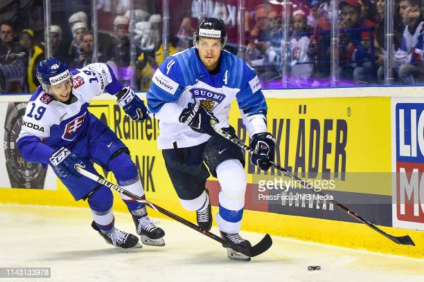 Mikko Lehtonen of Finland in action during the 2019 IIHF Ice Hockey World Championship Slovakia group A game between Slovakia and Finland at Steel...