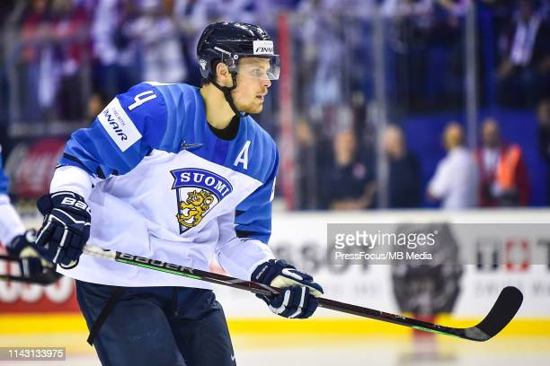 Mikko Lehtonen of Finland looks on during the 2019 IIHF Ice Hockey World Championship Slovakia group A game between Slovakia and Finland at Steel...
