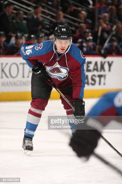 Mikko Rantanen of the Colorado Avalanche skates against the Montreal Canadiens at the Pepsi Center on February 7 2017 in Denver Colorado The...