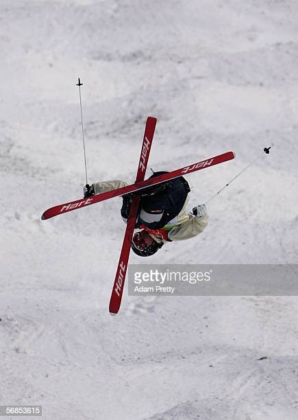 Mikko Ronkainen of Finland competes in the Mens Freestyle Skiing Moguls Qualifying on Day 5 of the 2006 Turin Winter Olympic Games on February 15...