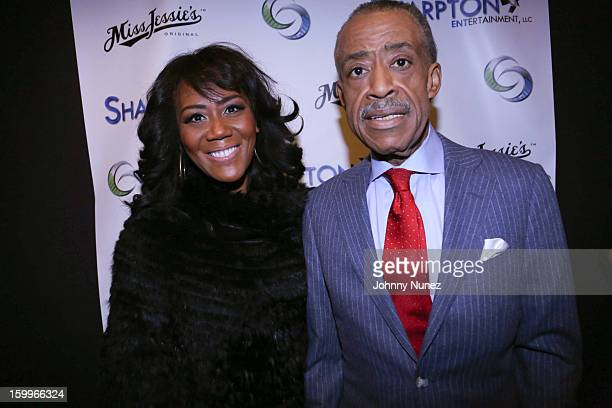 Miko Branch and Reverend Al Sharpton attend the Sharpton Entertainment Official Launch Event at Parlor on January 23 2013 in New York City