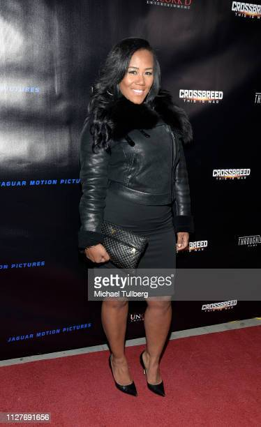 Miko Branch attends the world premiere of Uncork'd Entertainment's Crossbreed at Ahrya Fine Arts Theater on February 05 2019 in Beverly Hills...