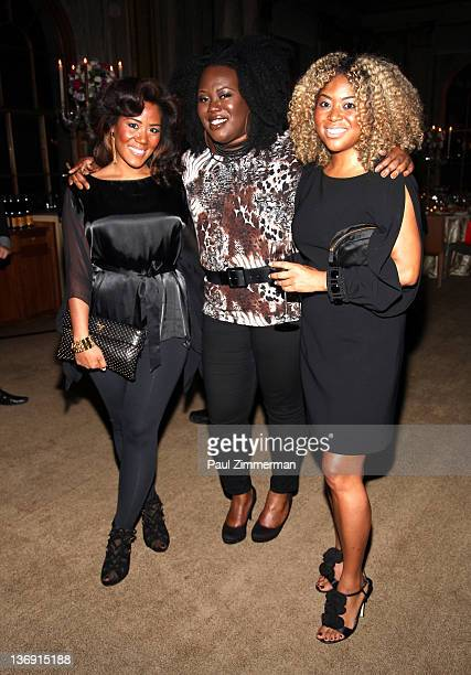 Miko Branch coowner of Miss Jessie hair products Angel Laws of concreteloop and Titi Branch coowner of Miss Jessie hair products attend the Target...