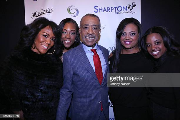 Miko Branch Dominique Sharpton Reverend Al Sharpton Ashley Sharpton and Tamika Mallory attend the Sharpton Entertainment Official Launch Event at...
