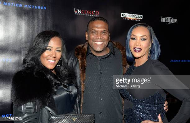Miko Branch guest and Vivica A Fox attends the world premiere of Uncork'd Entertainment's Crossbreed at Ahrya Fine Arts Theater on February 05 2019...