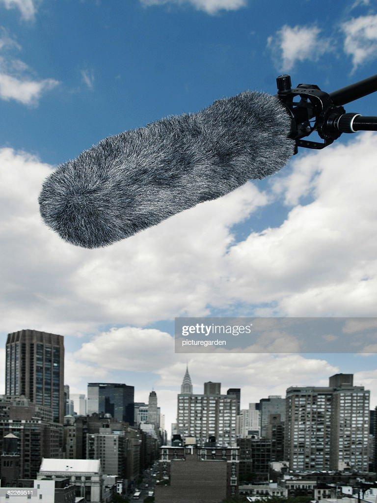 Mikrophone over Midtown : Stock Photo
