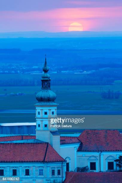 Mikulov Castle at sunset