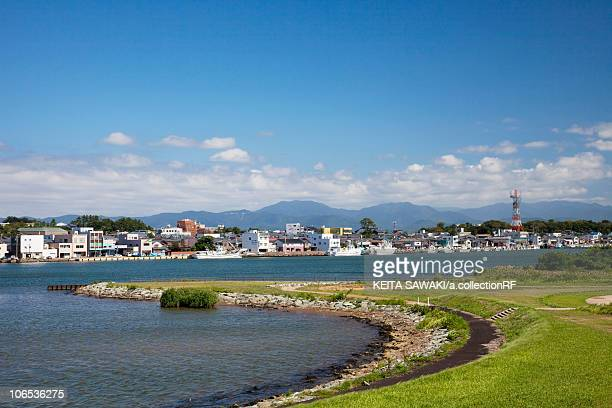 mikuni harbor, fukui prefecture, honshu, japan - fukui prefecture - fotografias e filmes do acervo