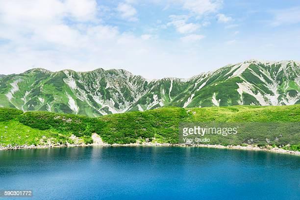 mikurigaike in tateyama,summer colors,japan - 富山県 ストックフォトと画像