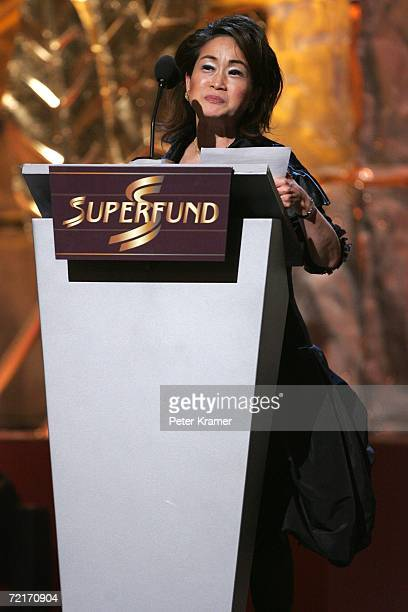 Miky Lee accepts the World Business Award at the 3rd Annual Women's World Awards at Hammerstein Ballroom October 14 2006 in New York City