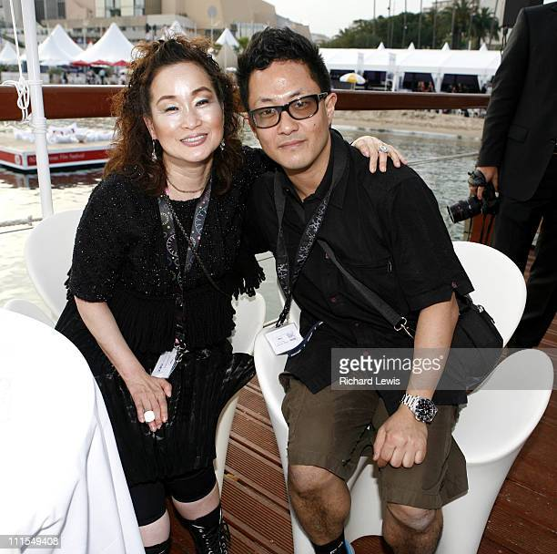 Miky Lee and David Koh during 2007 Cannes Film Festival Fortissimo Films Party at Majestic Beach 60