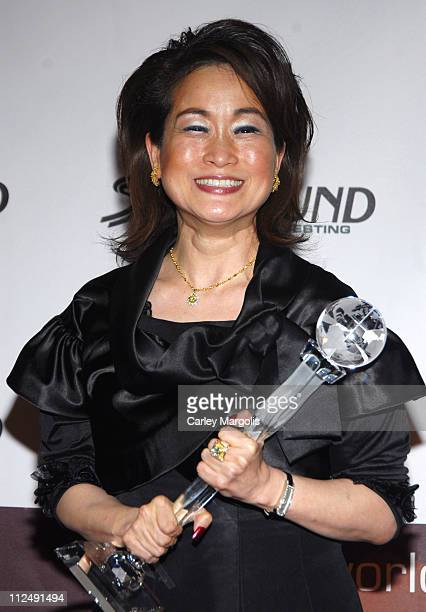 Miky Lee World Business Award during 3rd Annual Womens World Awards Press Room at The Hammerstein Ballroom in New York City New York United States