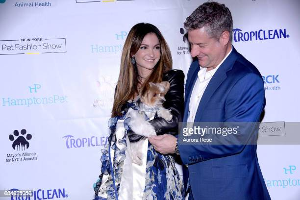 Mila Beth ShakLeventhal and Rick Leventhal attend Beth ShakLeventhal Awarded NY Pet Fashion Show Humanitarian Award at Hotel Pennsylvania on February...