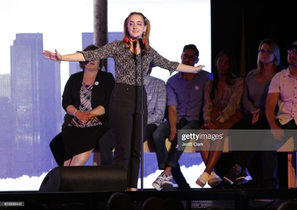 Mila Cuda performs at VAN JONES WE RISE TOUR powered by #LoveArmy at Hollywood Palladium on July 26, 2017 in Los Angeles, California.
