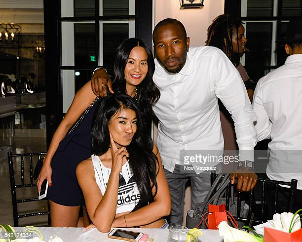 Mila J ThuyAnh J Nguyen and Ezekiel Lewis attend the RapUp PreBET awards dinner presented by Hennessy at Hotel BelAir on June 21 2016 in Los Angeles...