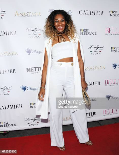 Mila Jam attends BELLA New York Spring Issue cover party hosted by Kelly Osbourne at Bagatelle on April 24 2017 in New York City