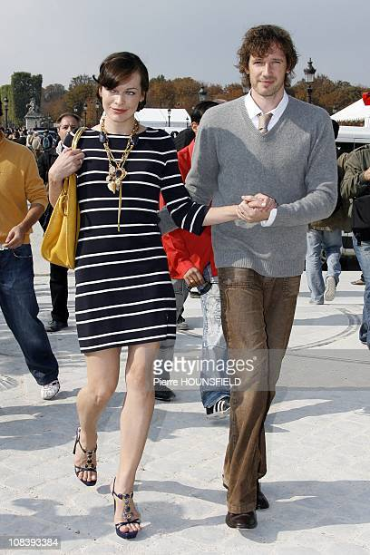 Mila Jovovich and her boyfriend in Paris France on September 29th 2008