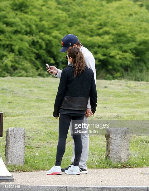 Mila Kunis and Ashton Kutcher are seen on May 19 2013 in London United Kingdom
