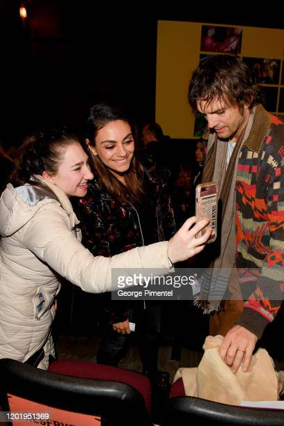 Mila Kunis and Ashton Kutcher attend the 2020 Sundance Film Festival Four Good Days Premiere at Eccles Center Theatre on January 25 2020 in Park City...