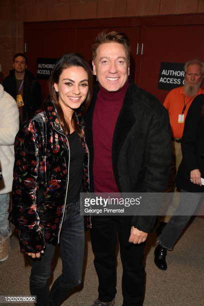 Mila Kunis and CAA agent Kevin Huvane attend the 2020 Sundance Film Festival Four Good Days Premiere at Eccles Center Theatre on January 25 2020 in...