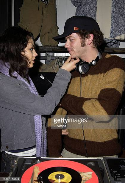 Mila Kunis and Danny Masterson during American Eagle Outfitters Flagship Store Opening to Benefit Jumpstart Sponsored by Blender Magazine at American...
