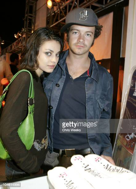 Mila Kunis and Danny Masterson during 'TMobile Sidekick II' Launch Party Inside at The Grove in Los Angeles California United States