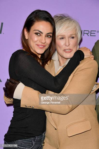 Mila Kunis and Glenn Close attend the 2020 Sundance Film Festival Four Good Days Premiere at Eccles Center Theatre on January 25 2020 in Park City...