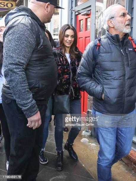 Mila Kunis and Jon Avnet are seen on January 25 2020 in Park City Utah
