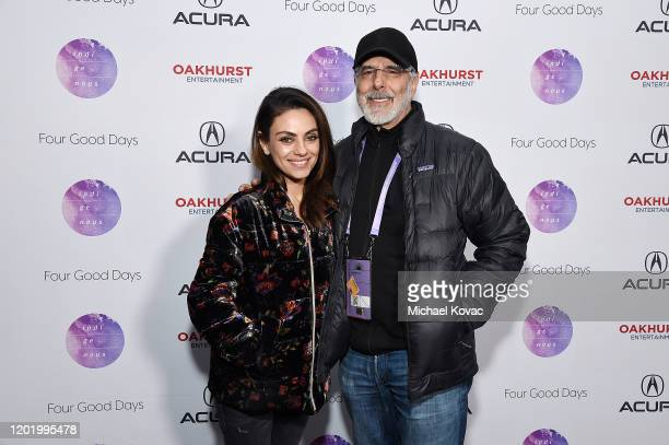 Mila Kunis and Jon Avnet attend the after party for Four Good Days at Acura Festival Village on January 25 2020 in Park City Utah