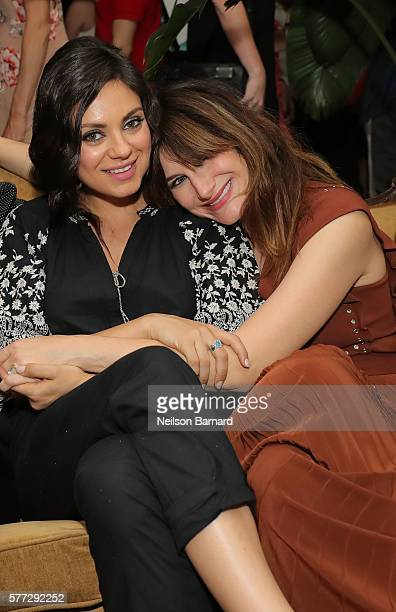 Mila Kunis and Kathryn Hahn attend the after party for the Bad Moms premiere at Metrograph on July 18 2016 in New York City