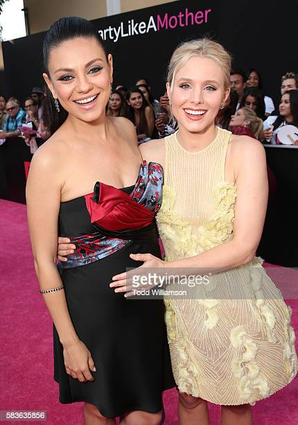 Mila Kunis and Kristen Bell attend the premiere Of STX Entertainment's 'Bad Moms' at Mann Village Theatre on July 26 2016 in Westwood California
