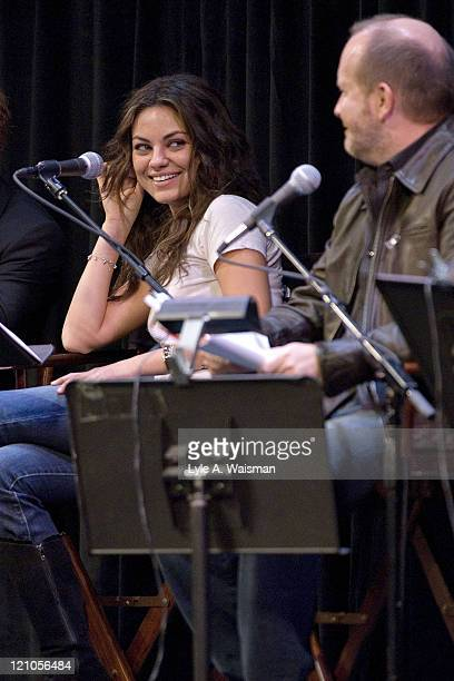 Mila Kunis and Mike Henry perform Family Guy Live At The Chicago Theater on September 15th 2007 in Chicago Illinois