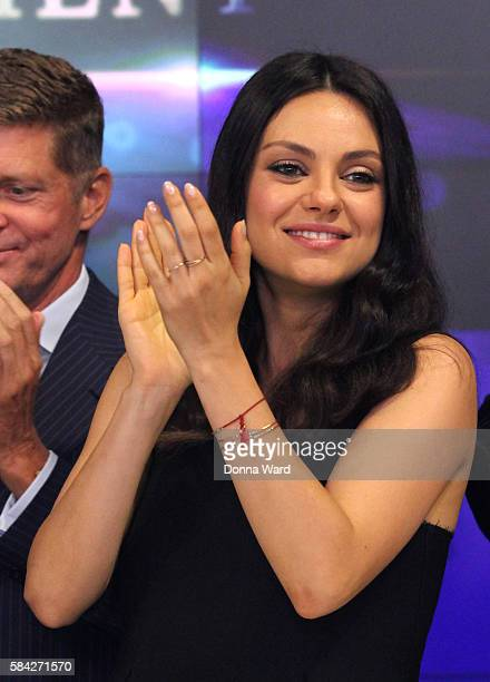 Mila Kunis appears with to ring the NASDAQ Closing Bell at NASDAQ on July 28 2016 in New York City