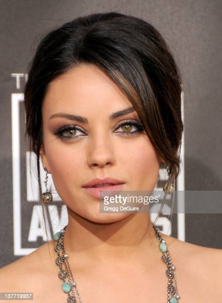 Mila Kunis arrives at The 16th Annual Critics' Choice Movie Awards at the Hollywood Palladium on January 14 2011 in Hollywood California