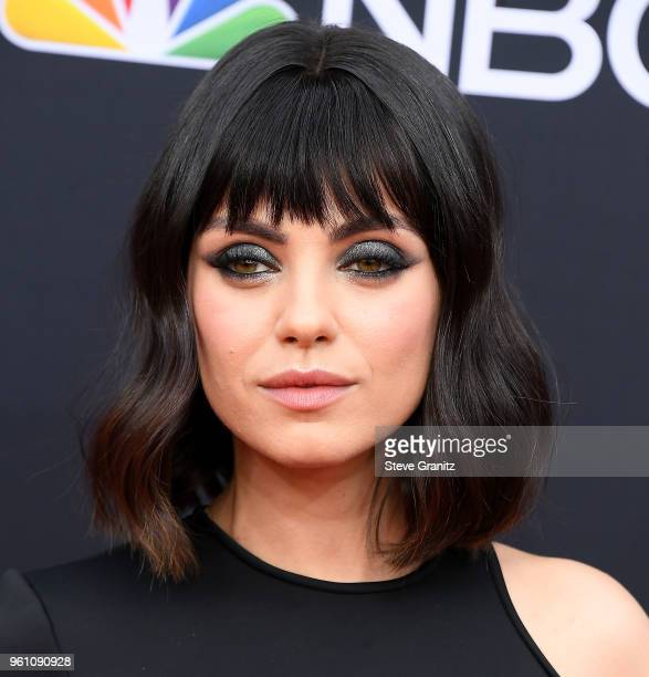 Mila Kunis arrives at the 2018 Billboard Music Awards at MGM Grand Garden Arena on May 20 2018 in Las Vegas Nevada