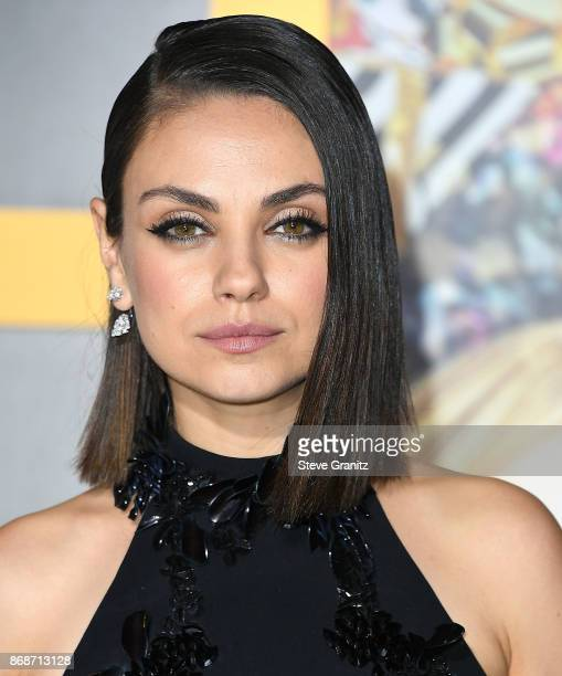 Mila Kunis arrives at the Premiere Of STX Entertainment's 'A Bad Moms Christmas' at Regency Village Theatre on October 30 2017 in Westwood California