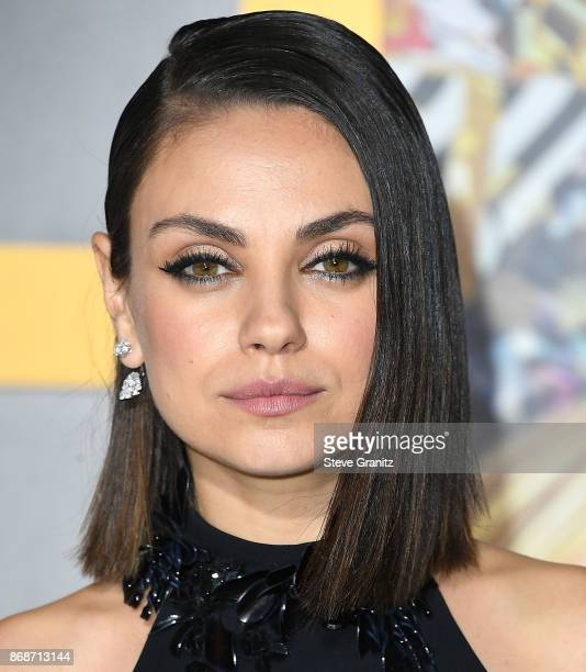 Mila Kunis arrives at the Premiere Of STX Entertainment's A Bad Moms Christmas at Regency Village Theatre on October 30 2017 in Westwood California