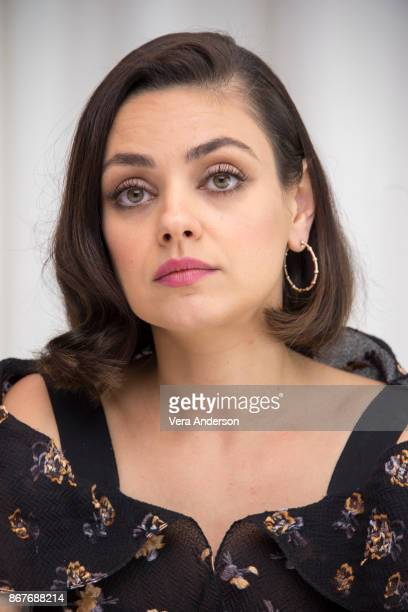 Mila Kunis at 'A Bad Moms Christmas' Press Conference at the SLS Hotel on October 27 2017 in Beverly Hills California