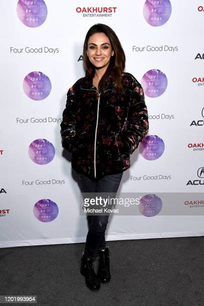 Mila Kunis attends the after party for Four Good Days at Acura Festival Village on January 25 2020 in Park City Utah