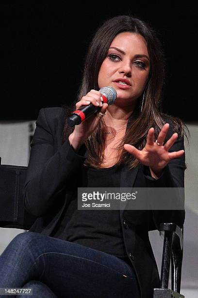 Mila Kunis attends the Oz The Great and Powerful panel at ComicCon International 2012 Day 1 at San Diego Convention Center on July 12 2012 in San...