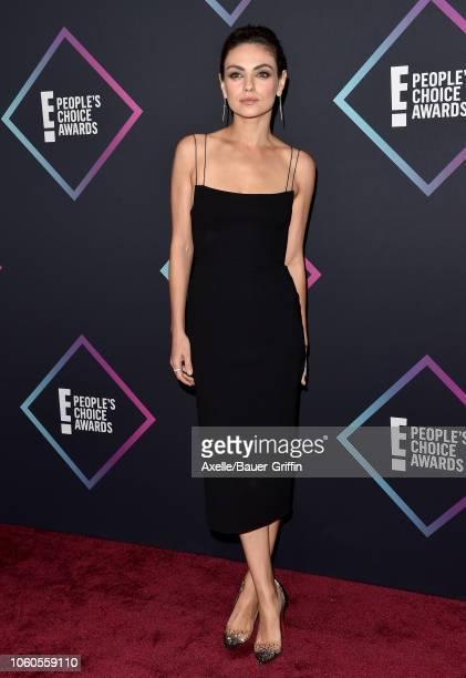 Mila Kunis attends the People's Choice Awards 2018 at Barker Hangar on November 11 2018 in Santa Monica California
